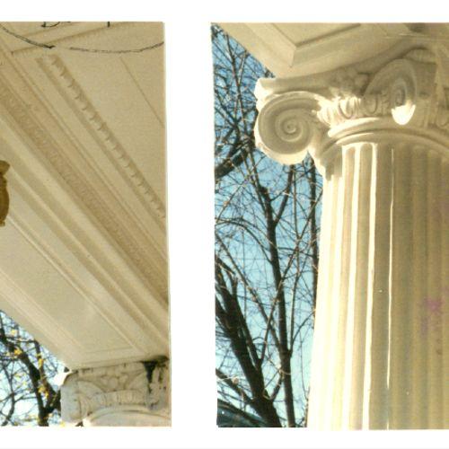 Rebuilt wood capitals