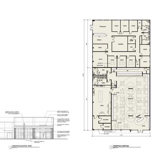 Commercial Renovation: Restaurant and Office space - Texas