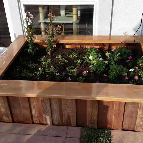 Custom work- Above ground planter.