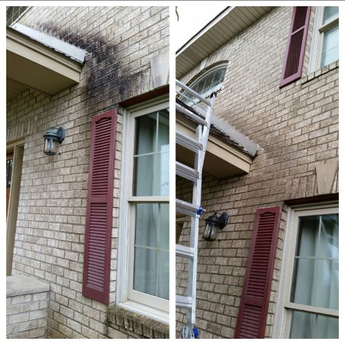 removing stains from brick exterior