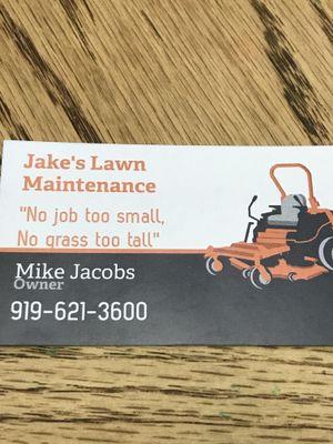 Avatar for Jake's Lawn Maintenance Wendell, NC Thumbtack