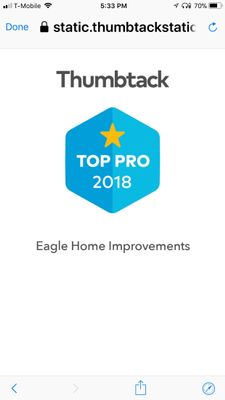 Avatar for Eagle Home Solutions  inc. (Walt . L) Manassas, VA Thumbtack