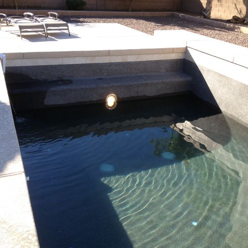 Pool Light Repair - First, Check your circuit breaker and reset if necessary. Check your G.F.C.I. (Ground Fault Circuit Interrupter) and reset if necessary If your pool light is tied into a remote system, test your batteries. Are the remote frequencies set properly? To safely replace a pool light, water level must be drained below the light.