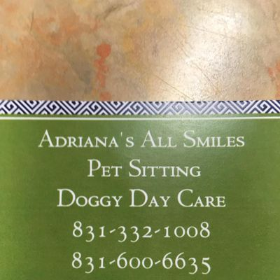 Avatar for Adriana's all smiles Pet Sitting
