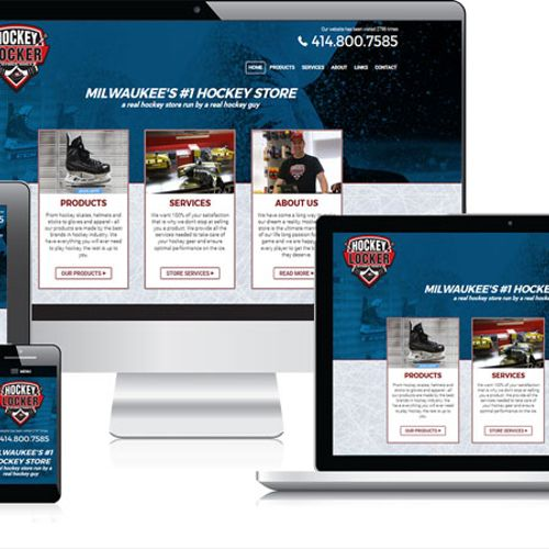 A fully custom website design for the best pro hockey store in Milwaukee area.