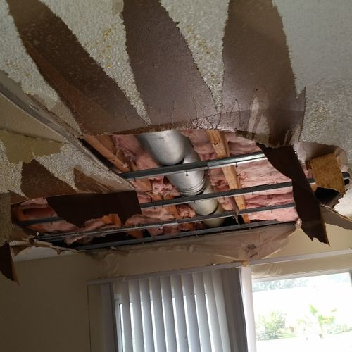 Persistent leak can lead to your ceiling collapsing  (pic 1 of 2)