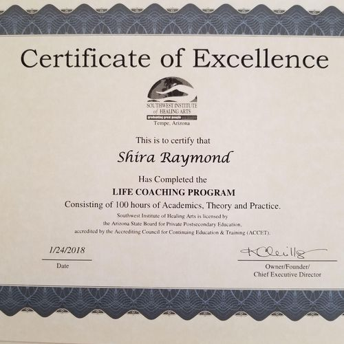 Life Coaching Certificate
