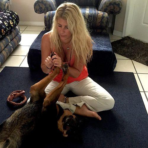 Animal Reiki with Lola the Rottweiler. :)