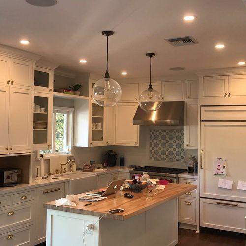 Electrical Kitchen remodel, wiring instalation+ Pendant instalation