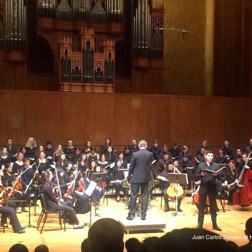 Baritone soloist: Juan Carlos Zepeda at Hertz Concert Hall, Berkeley, CA