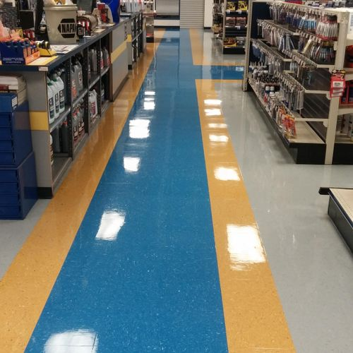 After Floor waxing services