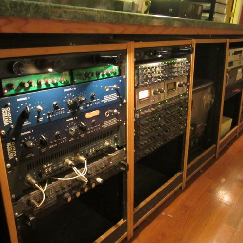 "Vintage compressors and pre amps in the ""A"" Room"