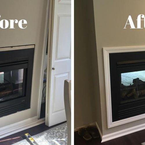 Trim work (and closet door installation)