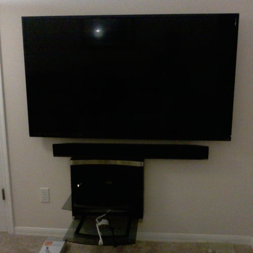 TV, Soundbar and Media Shelf Mounting