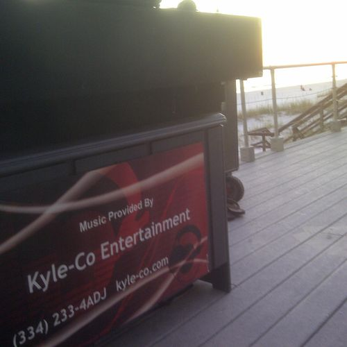 You say where, we'll play there. Kyle-Co Entertainment covers 8 Southern states. This is on the deck in Ft. Walton Beach, Florida.