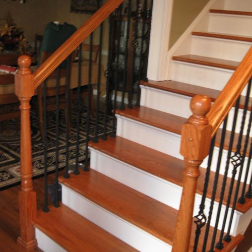 Refinished Stairs and Railings