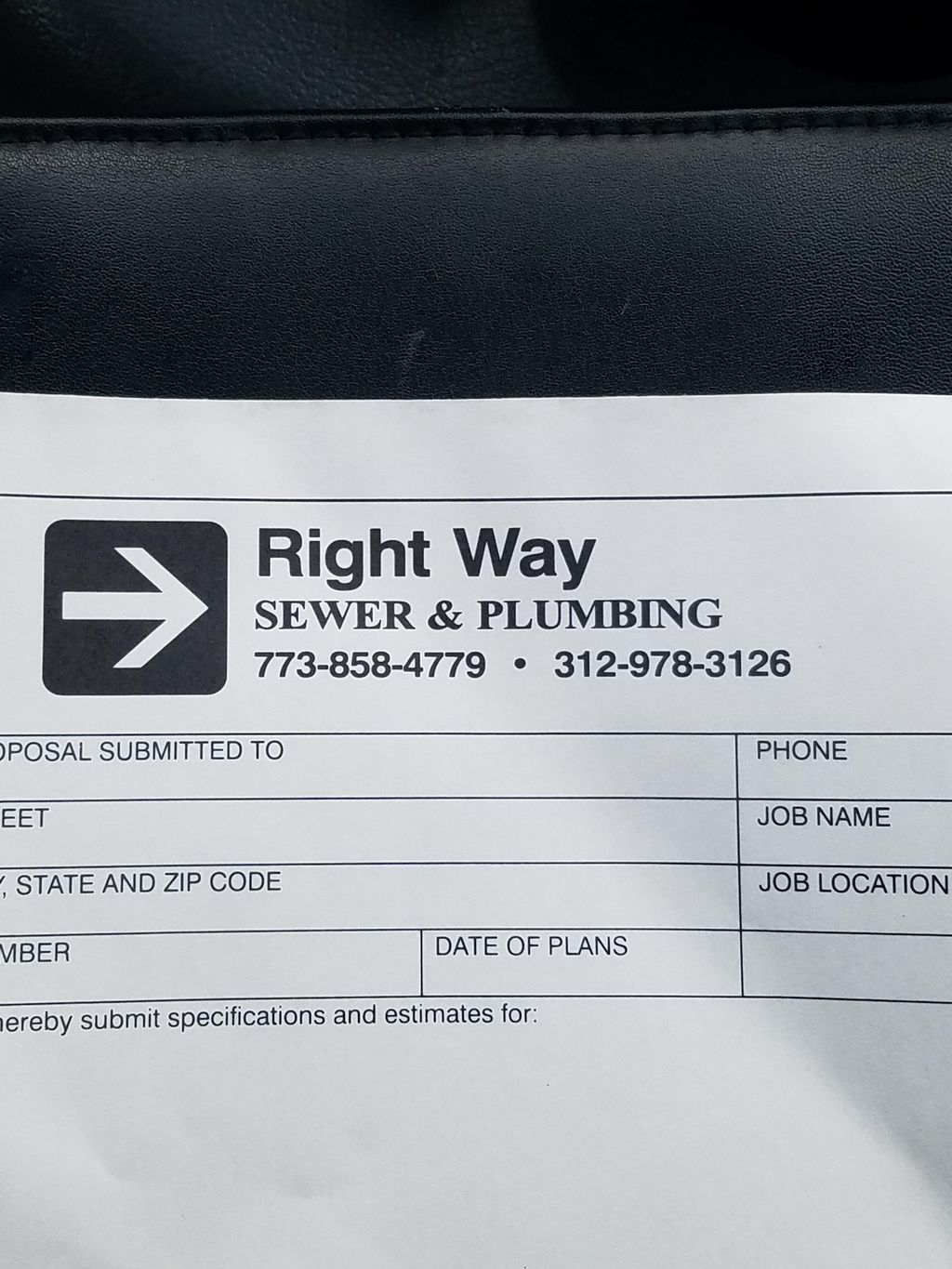 Right way sewer and plumbing LLC
