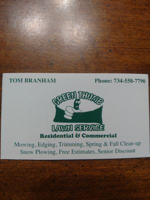 Avatar for Green Thumb Lawn Service
