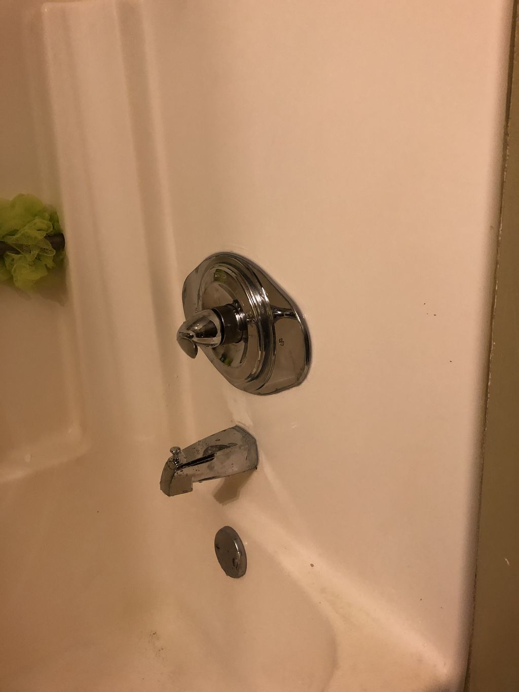 Replace 2 handle tub faucet with single handle delta