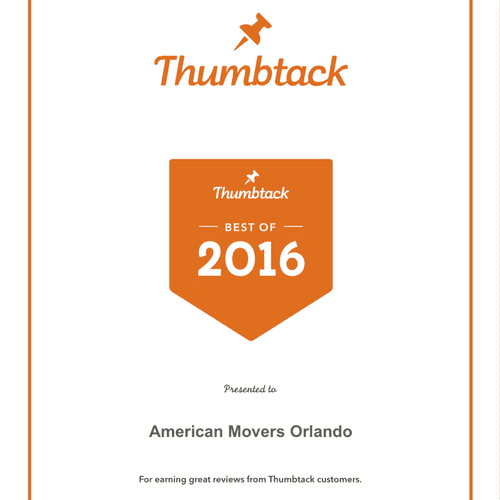 Best moving company in central Florida in 2016 presented to American Movers Orlando