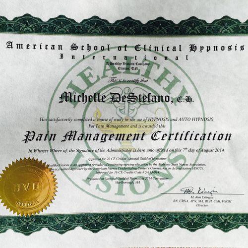 Pain Management Certification