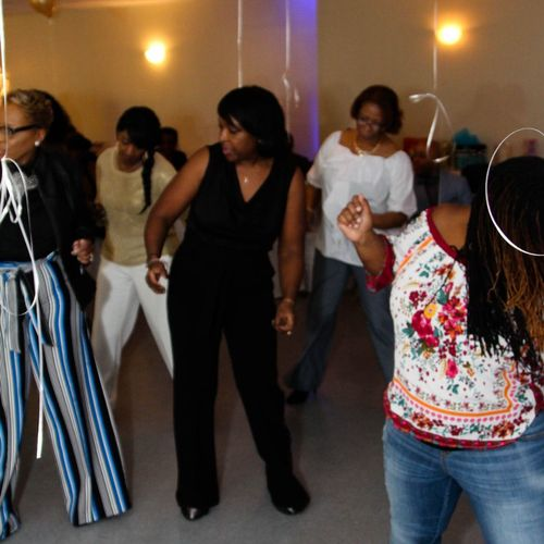 Ladies doing the line dances!