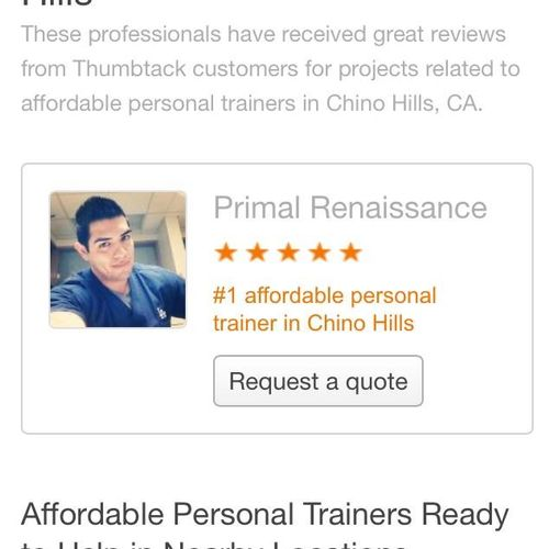 I am one of the Best of 2015 professionals at Thumbtack. Please see the page where my award is featured here:
