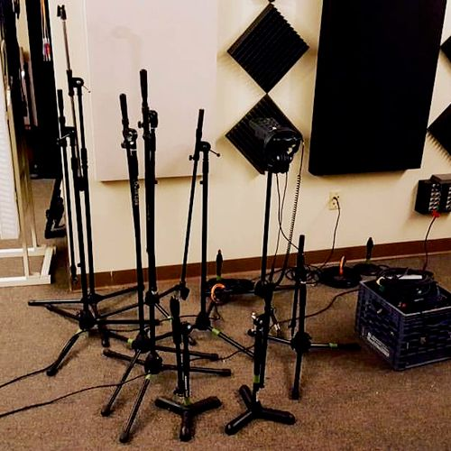 Some of our microphone stands.