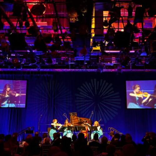 Performing at National Public Radio's annual Gala in Boston.