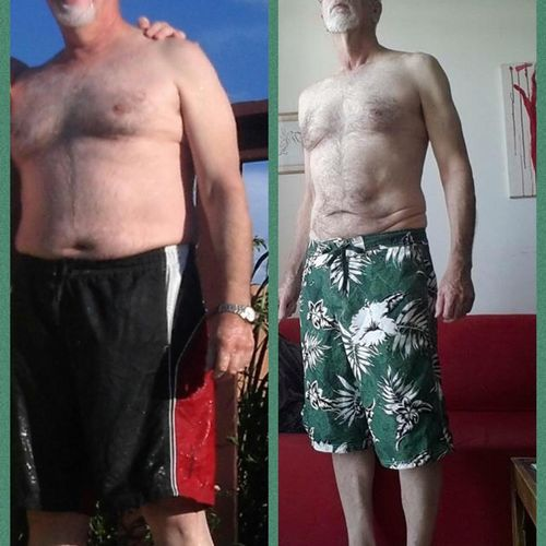 My father worked so hard following my advice and lost nearly 50 lbs!