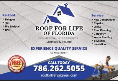 Avatar for Roof for Life, LLC Miami, FL Thumbtack