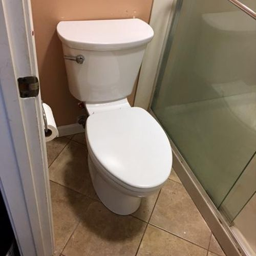 Elongated Toilet Install