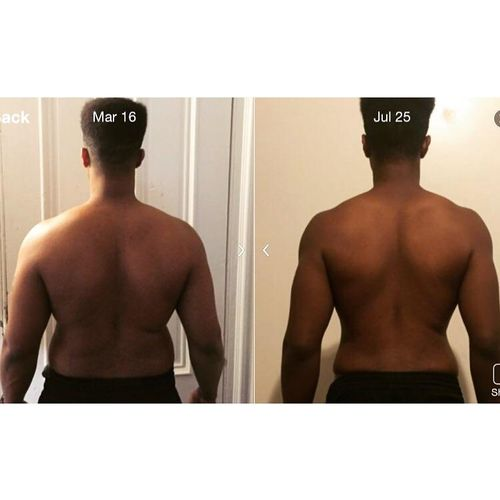 An amazing 4 month client transformation!