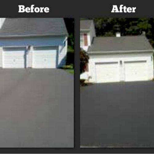 Driveway- sealcoated