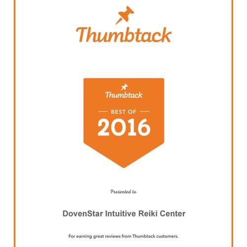 We are proud to receive the Best of Thumbtack award two years running!