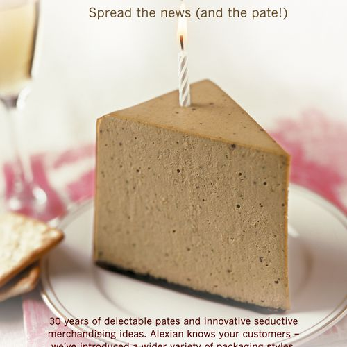 Copy for trade magazine ad for gourmet food company - client is interactive agency in NYC