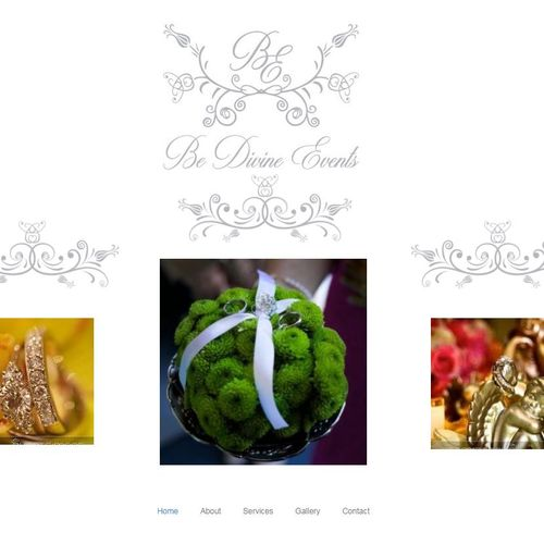Event Planner website with a soft and classy feel, highlighting imagery. Check it out here: bedivineevent.com