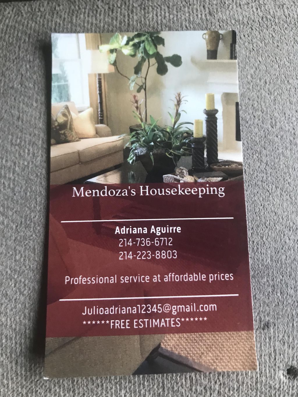Mendoza's Housekeeping