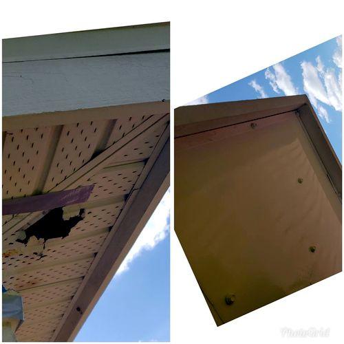 Woodpecker   damage repair