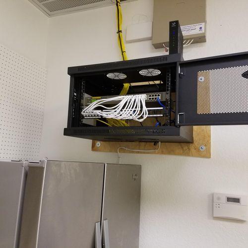 Wallmount wiring cabinet