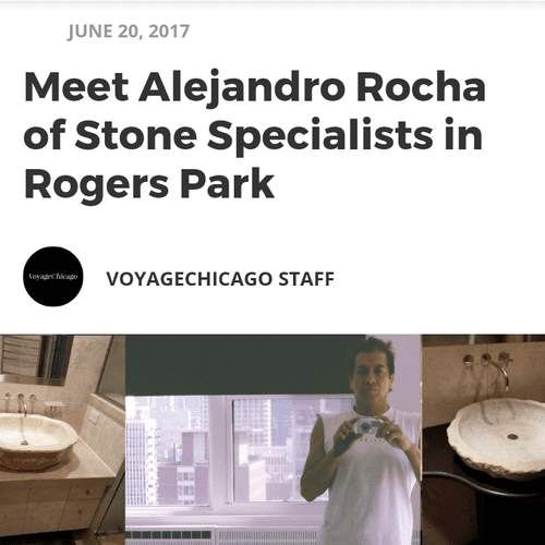 Stone Specialists, LLC and our lead restorer Alejandro Rocha are featured in the online magazine VoyageChicago. Here is the link: