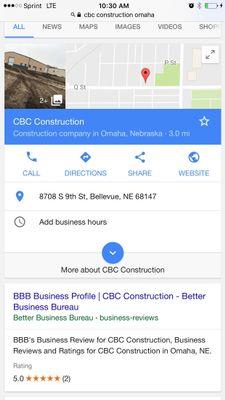 Avatar for CBC construction Omaha, NE Thumbtack