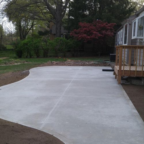 Patio installed in Back Yard.
