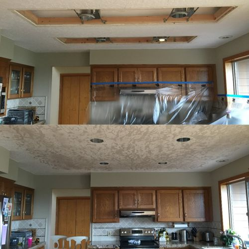 Before & After - Kitchen Lighting Upgrade