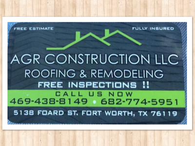 Avatar for AGR CONSTRUCTION  ROOFING AND REMODELING Fort Worth, TX Thumbtack