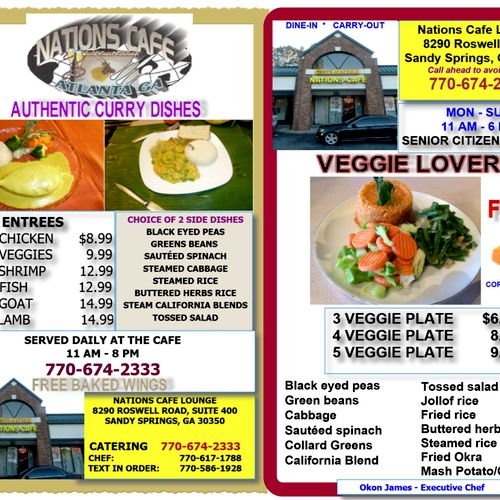 Curry and Vegetables Lovers Best Curry in Atlanta, Come see us.
