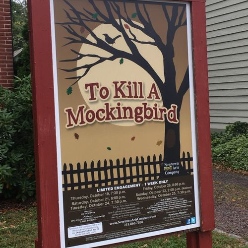 """To Kill a Mockingbird"" poster for a local theater company."