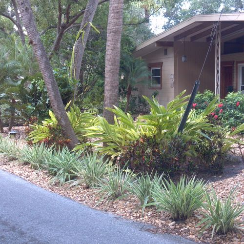 Hardscapes and xeriscapes.