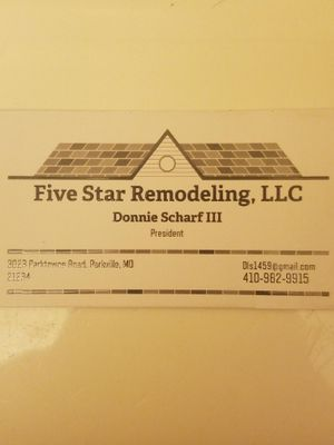 Avatar for Five Star Remodeling, LLC