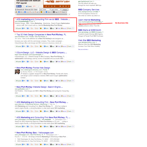 Im number one in my city for SEO marketing